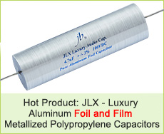 JLX-Luxury Aluminum Foil and Film Metallized Polypropylene Capacitors-Axial