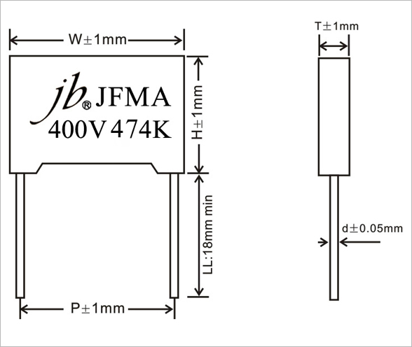 JFMA - Box Type Metallized Polypropylene Film Capacitor For Capacitive Divider